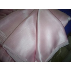 "100% pure Silk Satin fabric 54"" -baby pink colour"