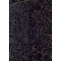 Polyester viscose burnout black Velvet fabric 44