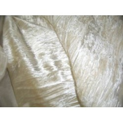 "100% crushed Velvet fabric 44"" cream / champagne crushed velvet"
