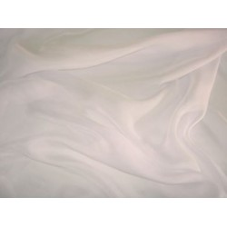 Cream silk chiffon fabric 44""