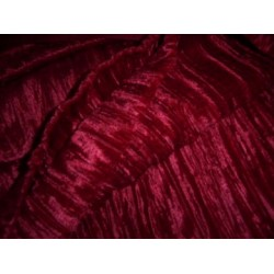 crushed velvet fabric-red colour