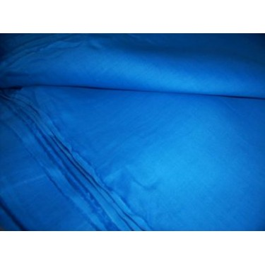 100 % Turquoise blue pure linen fabric 58""