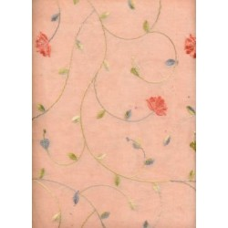 cotton organdy fabric~peach colour