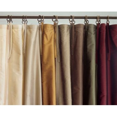 100% pure silk curtain panels