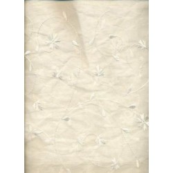 ivory 100% cotton organdy fabric 44