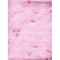 pink organdy w/ pink embroidery 44