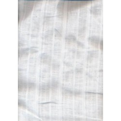 white linen fabric w/herribone stripes