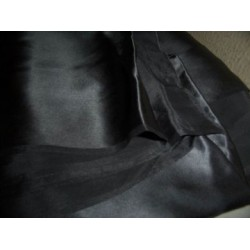 midnight grey silk satin 44""