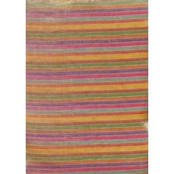 gorgeous silk tissue~multi colour stripes
