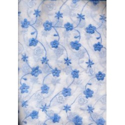 COTTON ORGANDY EMBROIDERY~SOFT FINISH