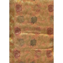 Jacquard silk Organza fabric Metallic Gold,brown
