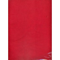 100 % Cotton organdy fabric:~red colour.44