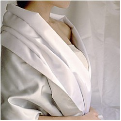 100% Silk Satin Wrap~ivory~78