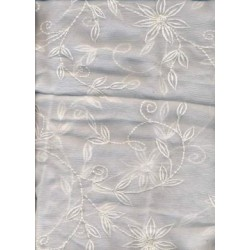 White silk chiffon fabric 44