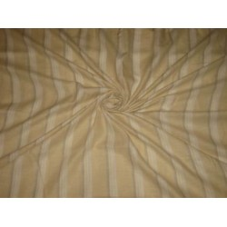 Lime Yellow ,Beige & White Horizontal Stripes running lengthwise~Chambray Linen~58