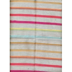 cotton voile w/ multi colour stripes