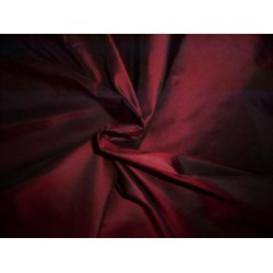wine / black silk taffeta 54 inches wide