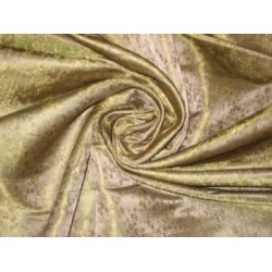 "Silk Brocade~Width 44""Gold,Beige and Green Color"
