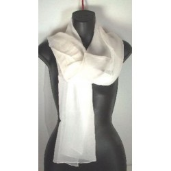 "22 x 72"" long white silk chiffon scarves"
