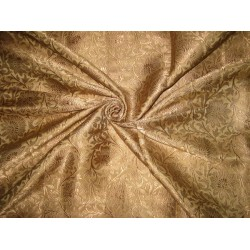 Pure Heavy Silk Brocade Fabric Gold & Antique Gold