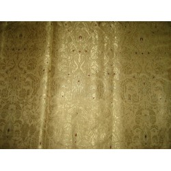 SILK Heavy  Brocade Fabric Gold,Metalic Gold & Wine