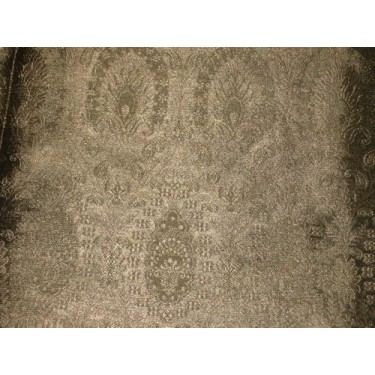 Silk Brocade fabric Antique Gold dull metallic
