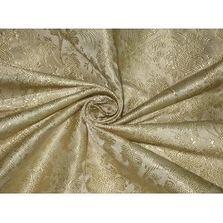 "Silk Brocade Fabric Light Champagne Gold  Color 44"" Super"