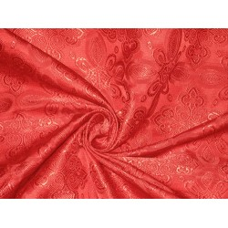 Brocade Liturgical Vestment Cross pattern Fabric - Red  #BRO81[5]