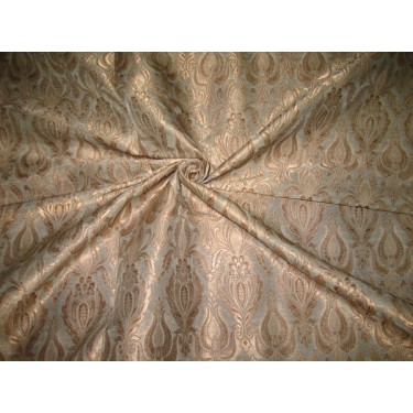 Heavy Silk Brocade Fabric Light Gold & Metallic Gold