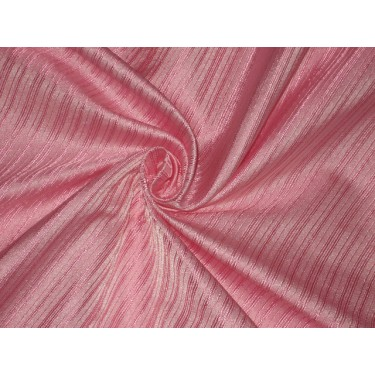SILK BROCADE FABRIC Baby Pink color 44""