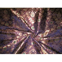 Heavy  Brocade Fabric Purple,Gold,Green & Wine