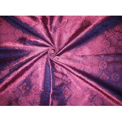 100% Pure Silk Brocade Vestment Fabric Purple