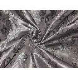 "Brocade JACQUARD fabric Jet Black Color 44""BRO128[5]"