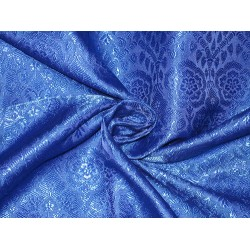 Silk Brocade fabric Royal Blue Colour 44""