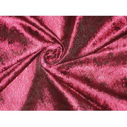 "Brocade Fabric Hot Pink & Black Victorian 44""BRO80[2]"