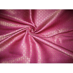 spun x polyester brocade fabric-PURPLE & METALLIC GOLD
