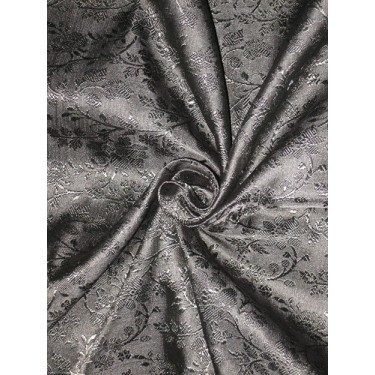 silk Brocade fabric Jet Black colour # BRO127[1]