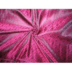 Silk Brocade fabric aubergine Purple & Purple
