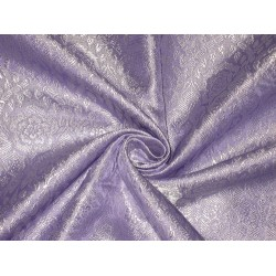 Silk Brocade fabric Lavender & Silver Colour BRO135[5]