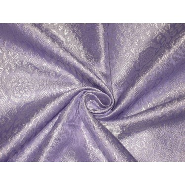 Silk Brocade fabric Lavender & Silver Color BRO135[5]