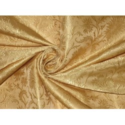"Silk Brocade Fabric Light Gold 44"" BRO107[6]"