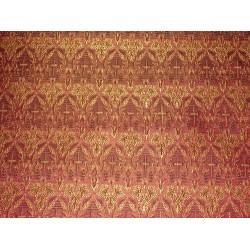 Silk Brocade Vestment Fabric Pink,Gold & Black