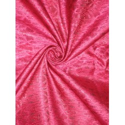 100% Pure Silk Brocade Vestment Fabric Pink & Black