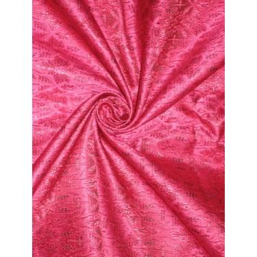 Silk Brocade Vestment Fabric Pink & Black