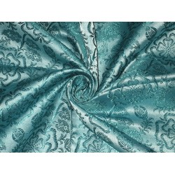 "SILK BROCADE FABRIC Blue 44""BRO150[2]"
