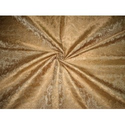 100% Pure Silk Brocade Vestment Fabric Antique Gold color