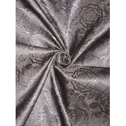 SILK BROCADE FABRIC Jet Black colour 44""