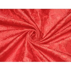 100% Pure Silk Brocade Vestment Fabric Red