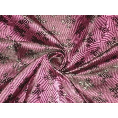 "SILK BROCADE FABRIC Purple & Black colour 44"" Vestment design"