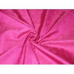 100% Pure Silk Brocade fabric Pink